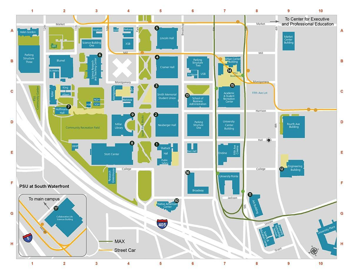 PDX carte du Campus